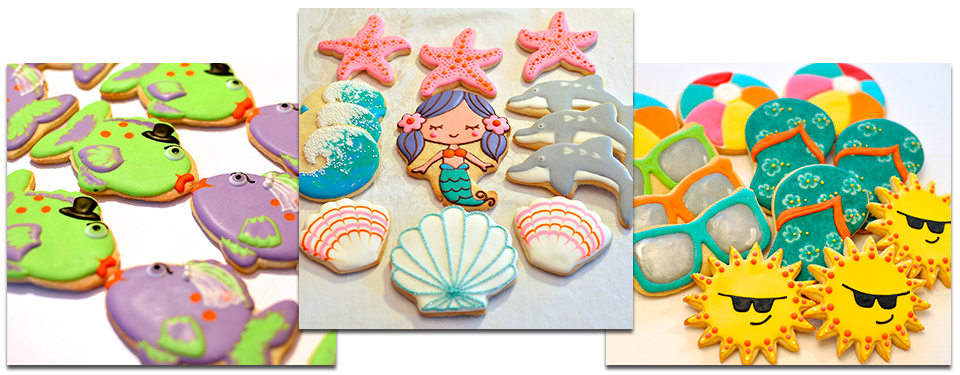 summer cookies LA Los Angeles Custom Cookies Kelley Hart